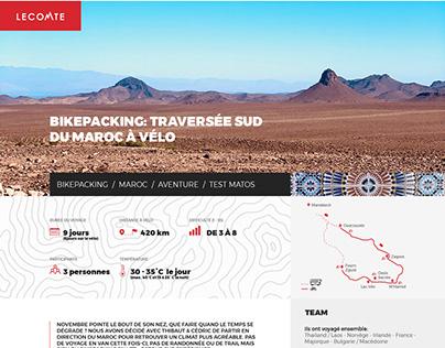 Bikepacking: Traversée du sud du Maroc à Vélo