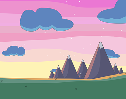 Mountains Cartoon Look