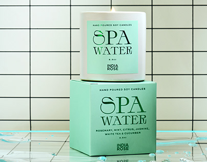 India Rose Spa Water Candle