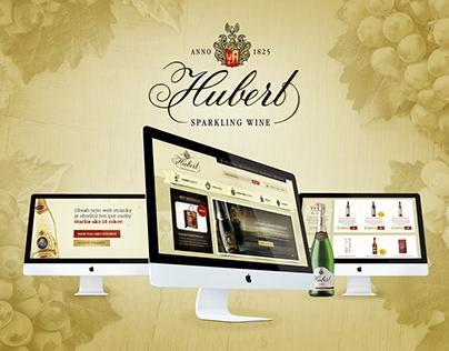 Webdesign for eshop selling sparkling wine Hubert