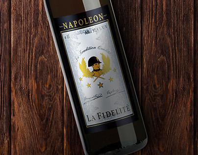 La Fidelité brandy label design