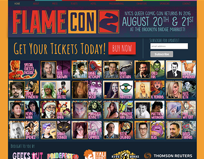 Flame Con Website