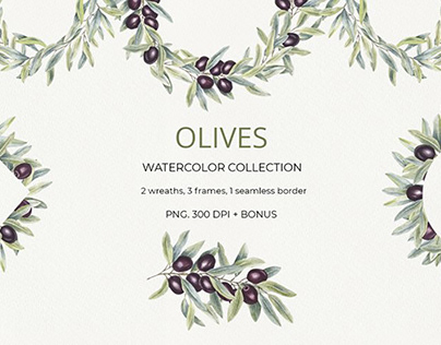 FREE Watercolor Botanicals Collection