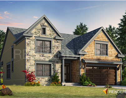 American House - 3D Exterior Visualization
