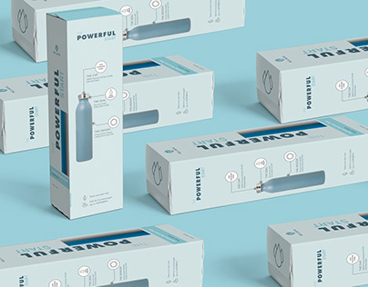 The Powerful Start Water Bottle Packaging Design