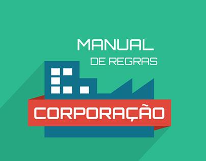 Design gráfico e ilustrações - Jogo Corporação