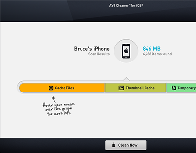 Cleaner for iOS - feature of AVG PC TuneUp (2014)