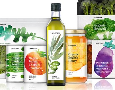 Branding & Packaging Concept / Wadmans Organic Food
