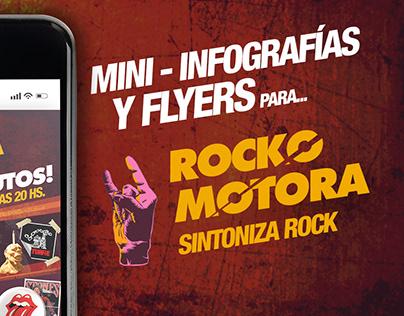 Mini-infografìas y flyers para Rockomotora
