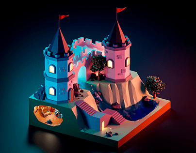 Low Poly Castles