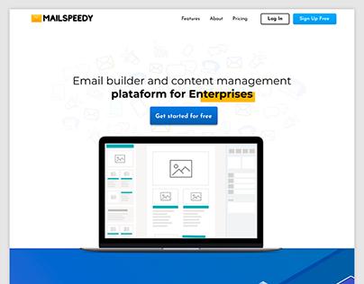 Mailspeedy Website Concept