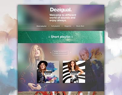 DESIGUAL · Playlists web