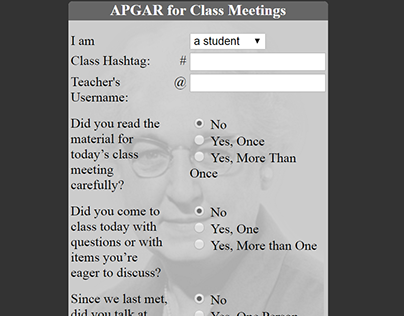 APGAR for Class Meetings