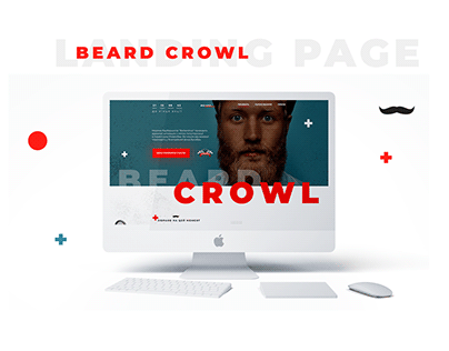 Beard Crowl. Landing Page