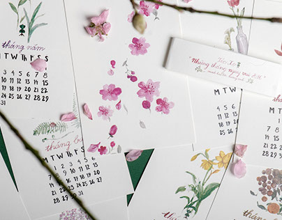 2016 Botanical Calendar - The Blissful Days of 2016