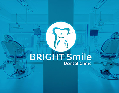 logo design (bright smile dental clinic )