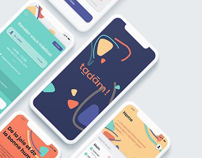 Tadam — Medical mobile app UX/UI