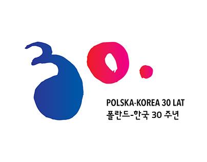 """Logo """"30 lat współpracy polsko koreańskiej"""""""