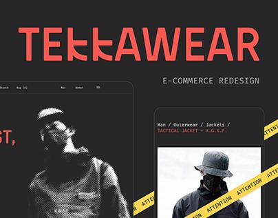 Tekkawear e-commerce redesign