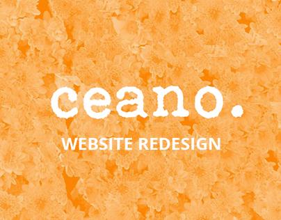 Ceano – Website redesign