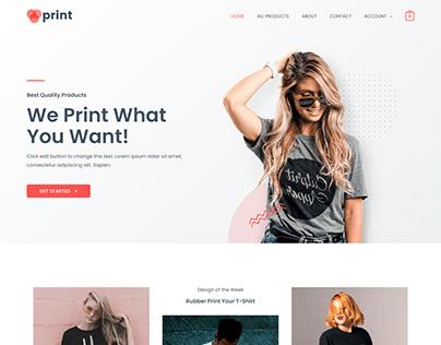 Astra ecommerce wordpress website