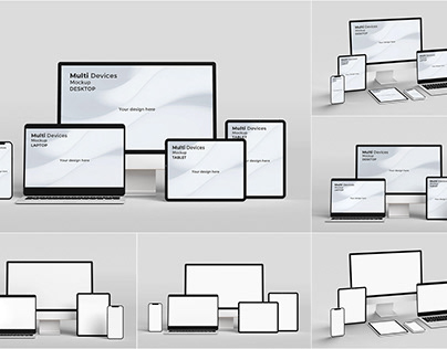 Free multi devices responsive screen mockup