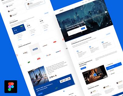 Softech website design templateUI Design