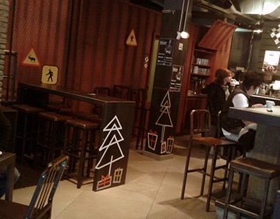 Christmas Decoration 16 for Garage cafe-bar Athens