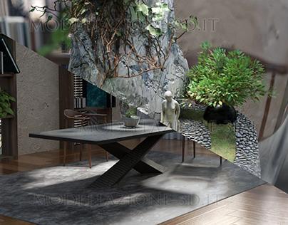 Design of interior apartment