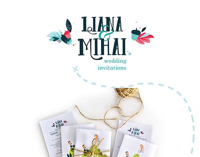 Liana and Mihai's Wedding Invitations