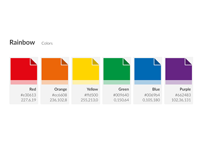 Free Download Rainbow Color Scale for Adobe XD