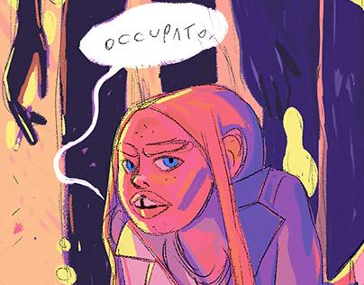 Occupato - illustration