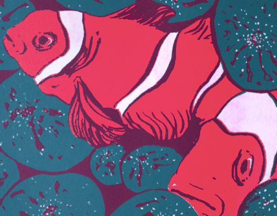 Screenprinting Illustration Tropical Fish