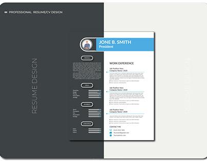 professional resume/cv design template