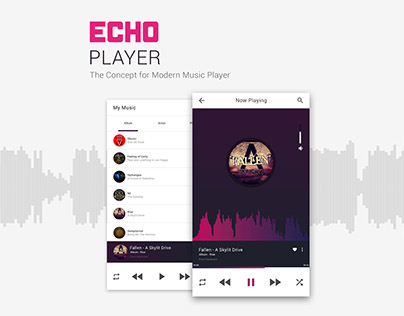 Echo Player (The Concept for Modern Music Player)