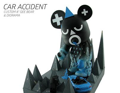 "Custom 8"" Qee Bear vinyl toy & diorama"