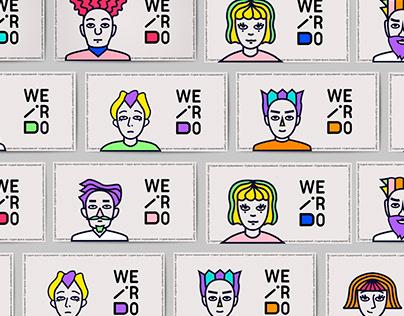 "Branding of color studio salon ""Weirdo"" Брендинг"