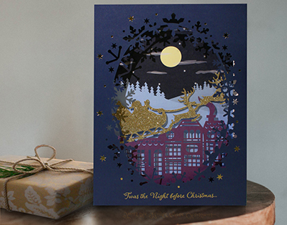 Boots Luxury 3D Christmas cards