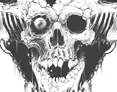 Dauthuz, Destined for Death (Album cover design, 2017)