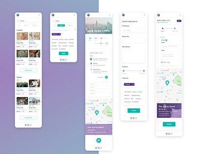 Branding and app UI design for travel start-up