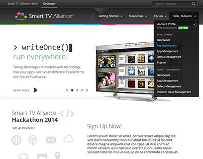 Smart TV Alliance Redesign Mockup