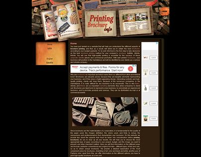 Printing and Designing Brochures - Website