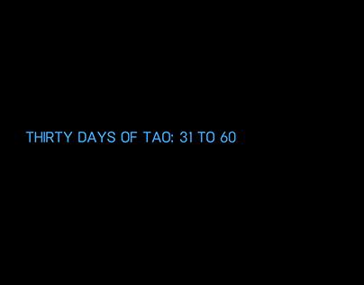 Thirty Days of Tao: 31 to 60