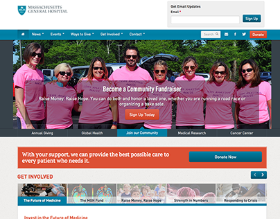 Mass General Giving Website - Web Project Management