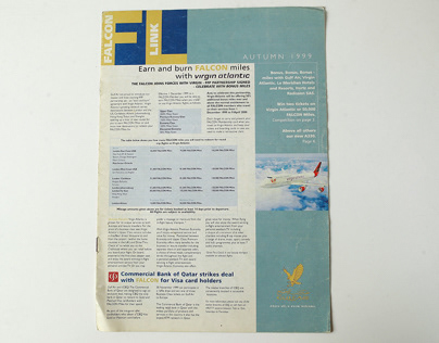 Gulf Air Falcon Club Magazine Layout 1999