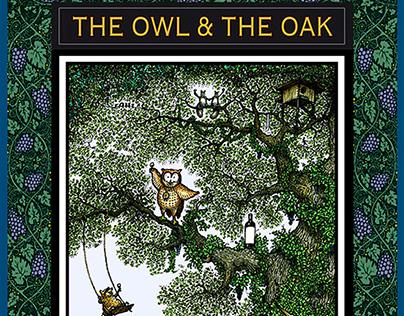 THE OWL & THE OAK Cabernet Sauvignon Wine Label