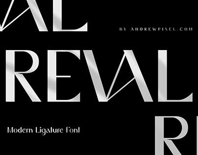 Reval - Modern Ligature Font