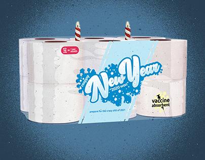 2021 Crappy New Year Toilet Tissue Cake