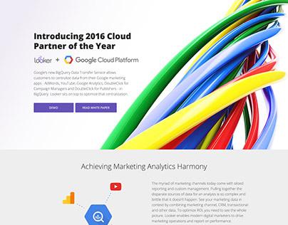 Looker + Google Cloud Platform microsite / landing page
