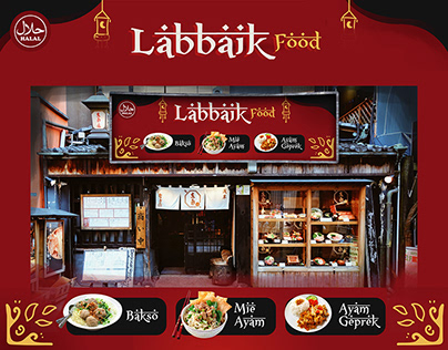 Labbaik Food Sign